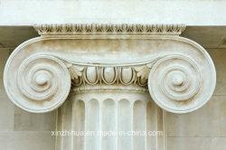 De holle/Stevige Marmeren Kolom Gesneden Ionische Kolom van de Pijler van de Steen Roman