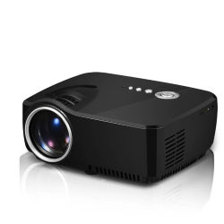 ビデオおよびゲームのためのTVインターフェイスが付いているHDの携帯用プロジェクター