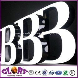 segno della lettera 3D e segno della Manica dei contrassegni LED della resina