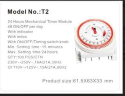 Minuteur mécanique de 24 heures murale pour climatisation