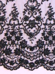 Tecido de malha elástica de Nylon luxo rendas