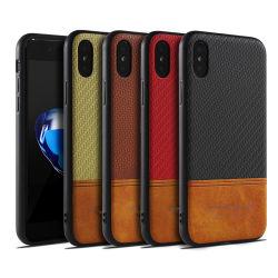 2 dell'alta società in 1 cassa di cuoio del telefono per il iPhone X