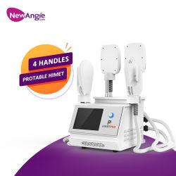 Tragbare Muskelaufbau EMS Körper Abnehmen Maschine 4 Griffe Beauty Salon Ausrüstung