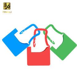 Etichetta in plastica con lucchetto per indumenti, indumenti, vestiti, borse, bagagli
