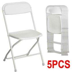 Sedia pieghevole in plastica bianca di grado commerciale per interni o esterni Eventi