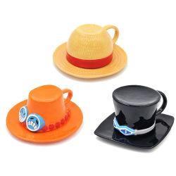 De creatieve Hoed Gestalte gegeven Reeks van de Mok van de Koffie van de Kop van de Koffie van het Porselein Ceramische