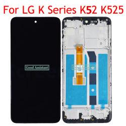 يتم عرض شاشة LCD الأصلية للهاتف المحمول لـ LG K62/K52/K42 مع الإطار