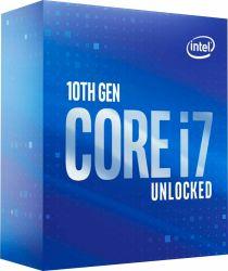 Procesadores Intel Core i7-10700K 10ª generación 8Core 3.8 GHz de rosca de 16GHz 5.1 Turbo LGA1200 desbloquea la toma de procesador CPU de sobremesa