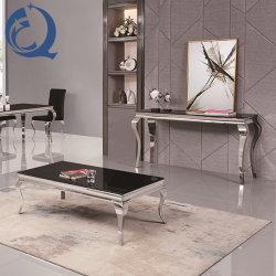 Оптовая торговля Луи черный верхней стеклянной прямоугольник кофейный столик