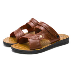 Prix bon marché de la mode de l'été de sexe masculin de la plage en PVC Non Slip hommes pantoufles confortables Diapositive occasionnel des sandales