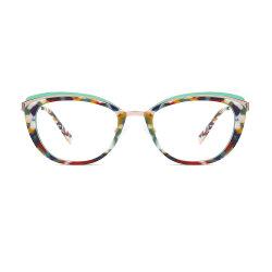 New Style Groothandel Voorraad Maak bestelling Acetate optische frame oogkleding