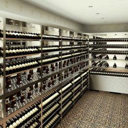 Nach Maß Glastür-MetallBarware Speicher-Wein-Zahnstange