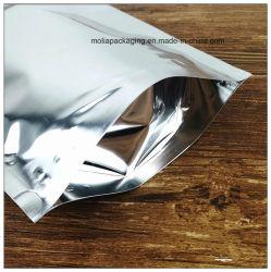 Настраиваемые ПЭТ/VMPET/PE, OPP/VMPET/ЦПД Clear Silver Незакрываемое Zip-Lock майларовый мешки для длительного сохранения продуктов питания