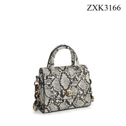 Mujer de cuero de imitación del embrague de la Serpiente señoras personalizada Bolsa Tote Handbag