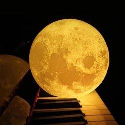 LED de impressão 3D luz da lua com tamanho grande Galax Y luz nocturna estrelada