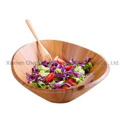 Bol à salade de bambou, 10 pouces grand bol à mélanger ensemble avec une spatule de bambou et le couteau pour les fruits et de la Salade de décisions
