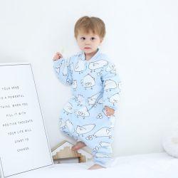 De nieuwe Baby van het Ontwerp kleedt de Katoenen van 100% Slijtage van de Winter Afdrukkend de Lange Slaapzak van de Baby van de Koker