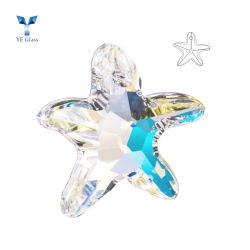 Gradiente de llegada de nuevas estrellas de mar de cristal Colgante Collar Arete haciendo bricolaje Accesorios