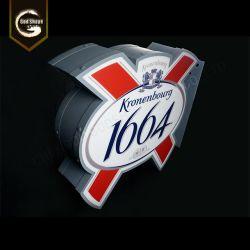 La Publicidad exterior de doble cara, caja de luz de la cerveza de marca de logotipo Bar Restaurante Caja de luz