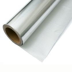 La lámina reflectante aislamiento térmico de aluminio 7 Mic el papel de aluminio laminado de tejido de tela de fibra de vidrio