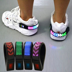 La sicurezza esterna di alta visibilità all'ingrosso di Linli e la visualizzazione di messaggio ricaricabile d'avvertimento del USB illuminano la clip in su infiammante del pattino del LED