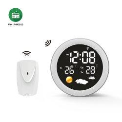 다기능 음성 컨트롤 FM 라디오 디지털 날씨 스테이션(온도 포함 습도 표시