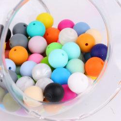 BPAはベビーシャワーのギフトのためのシリコーンのビードの食品等級のゴム15mm円形のビードを放す