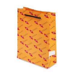 Cabo preto pega de plástico Sacos de papel, Custom Design logotipo impresso papel Arte sacos de embalagem