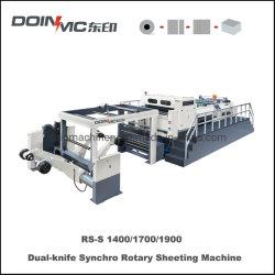 Cuchilla de doble cuchilla giratoria de la máquina de láminas Synchro-Sheeter Doinmc