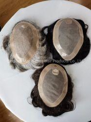 2021 인기 디자인 고급 모노 베이스 인간 헤어 툴페 접힌 끈 머리 아기 머리 펴기 재치 머리 가발