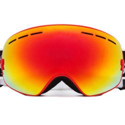 2019 Vente chaude UV Lentille Photochromatic ANTI BROUILLARD GRAND Lunettes de ski de gros personnalisé visuel