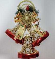 金の鐘のクリスマスの装飾のクリスマス鐘はクリスマス鐘のネックレスを飾る