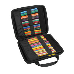 Kundenspezifisches schwarzes hartes Shell wasserdichter beweglicher EVA-Briefpapier-Bleistift-Kasten-Schule-Bleistift-Feder-Kasten für Zeichenstifte