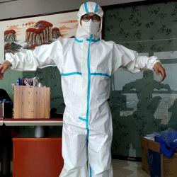 PPE van de Levering van de fabrikant het Eenvormige Overtrek van de Strook van de Stijl Blauwe voor de Bescherming van de veiligheid