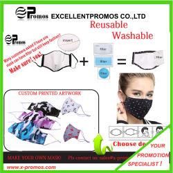 Respirador Máscara reutilizáveis /Máscara de algodão lavável /Arte Personalizada Máscara Impresso/ Anti-Dust Máscara com Filtro Substituível unissexo