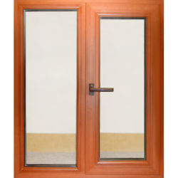 Copo de vidro manchado Sótão estilo Europeu Casement sólidos de madeira madeira Windows