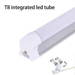 أفضل مبيعات لأنبوب LED T8، إنارة صفراء/بيضاء 9W 14W 18W 600 مم 900 مم 1200 مم AC85-265V 6500K مصابيح الأنبوب T8 فلورسنت LED الأنبوب T5