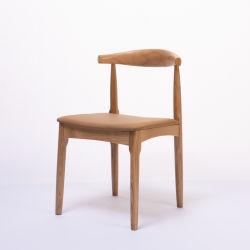 Étude d'accueil moderne et minimaliste Bureau d'apprentissage Salle à manger du bois de chêne solide corne Soft-Covered Président 0030