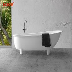 Grosses Größe Clawfoot festes weißes Oberflächenschwarz-freie stehende Badewannen