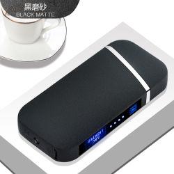 Accenditore elettronico su ordinazione in lega di zinco su ordinazione del USB dell'arco della fabbrica doppio