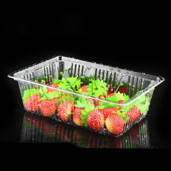 Salade de fruits en plastique de qualité alimentaire conteneur en plastique jetables personnalisé le conditionnement sous blister Gâteau de Lune en plastique du bac d'emballage