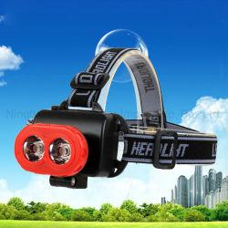 3W двух светодиодных ламп КРИ XPE индикатор работает от батареи фар высокой мощности с красным и желтым цветом