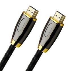 Chapado en oro convenio HDMI Cable Cable HDMI a HDMI HDMI 2.1 8 K de 2m de cable trenzado de algodón
