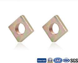 Las tuercas de la plaza de ANSI B18.2 Zinc-Plated Color.2 color acero al carbono Zinc-Plated