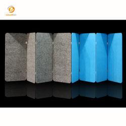 Fibre polyester unique plié sous contrat les parures de l'isolement de l'écran du panneau d'évidement