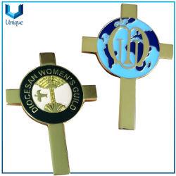 Fábrica de Artesanías de metal personalizados Nigeria insignia de solapa en oro con epoxi para la Promoción productos