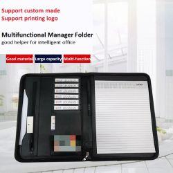 De multifunctionele A4 Portefeuille van de Zak van de Manager van het Leer van de Omslag van het Dossier van het Document