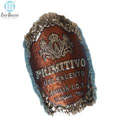 強い付着力の冷たいホイルのワインのプライベートラベルのステッカーの金属のラベル