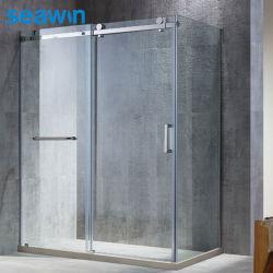 Hot Bath frameloos rechthoekige Single Sliding Open Glass douchebehuizingen Kamer