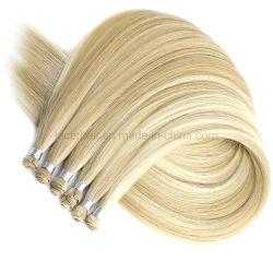 100% двойных обращено Реми человеческого волоса продление стороны связаны Virgin Китайский Weft волос